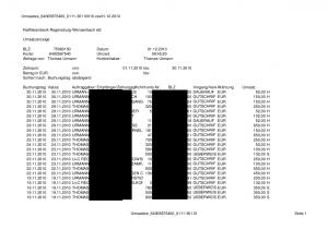 Umsätze - Seite 1